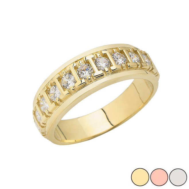 Men's Wedding Ring in Gold (Yellow/Rose/White)
