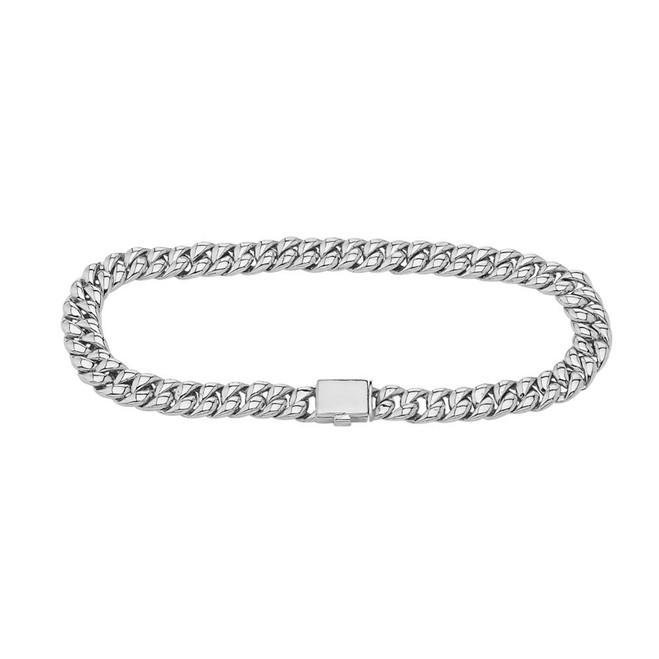 Cuban Link Bracelet 6.5mm In Sterling Silver