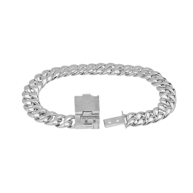 Cuban Link Bracelet 9mm In Sterling Silver
