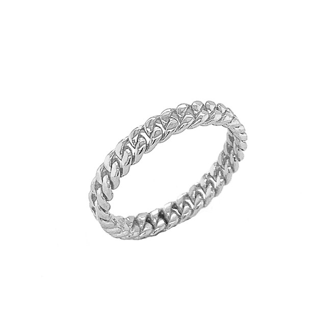 3MM Cuban Link Band in Sterling Silver