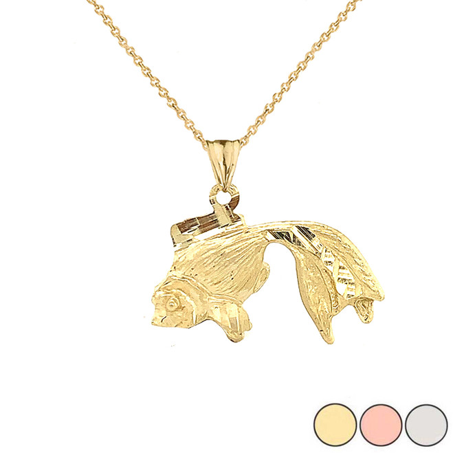 Tosakin Goldfish Pendant Necklace In Gold (Yellow/Rose/White)