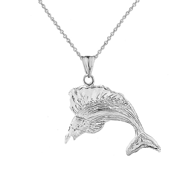 Swordfish Pendant Necklace In Sterling Silver