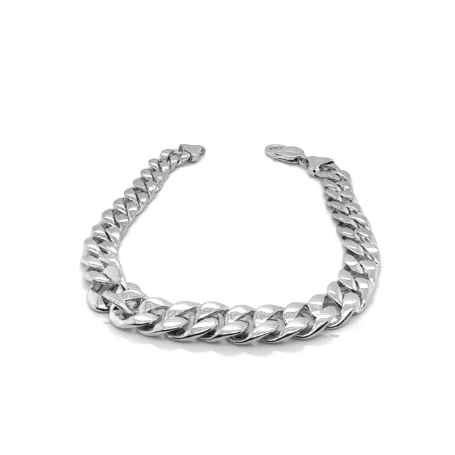 Sterling Silver Handmade Cuban Link Necklace 9.6mm