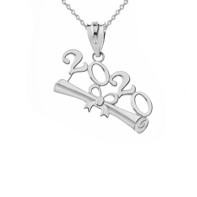 Class of 2020 Graduation Pendant Necklace in Sterling Silver
