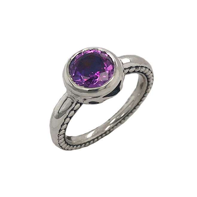 Sterling Silver (LC) Alexandrite Statement Ring