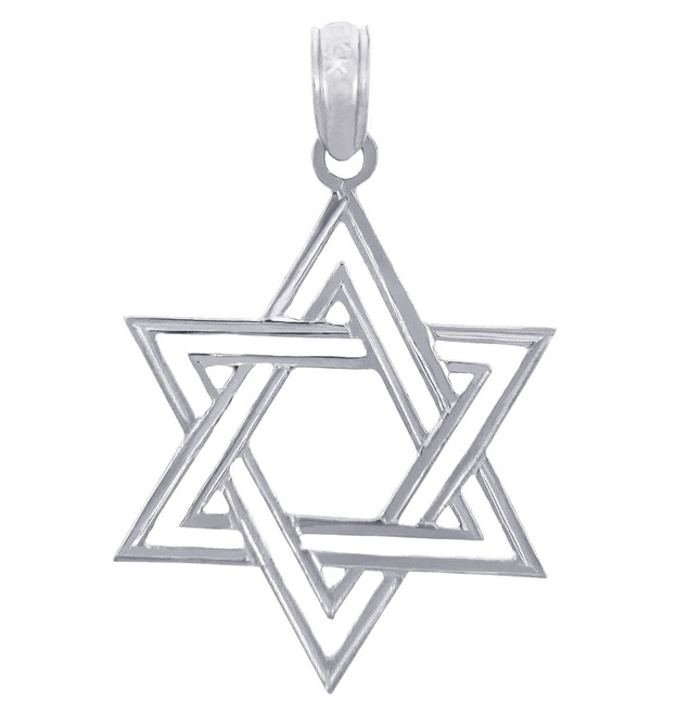 Jewish Charms and Pendants - Double Star of David Silver Pendant