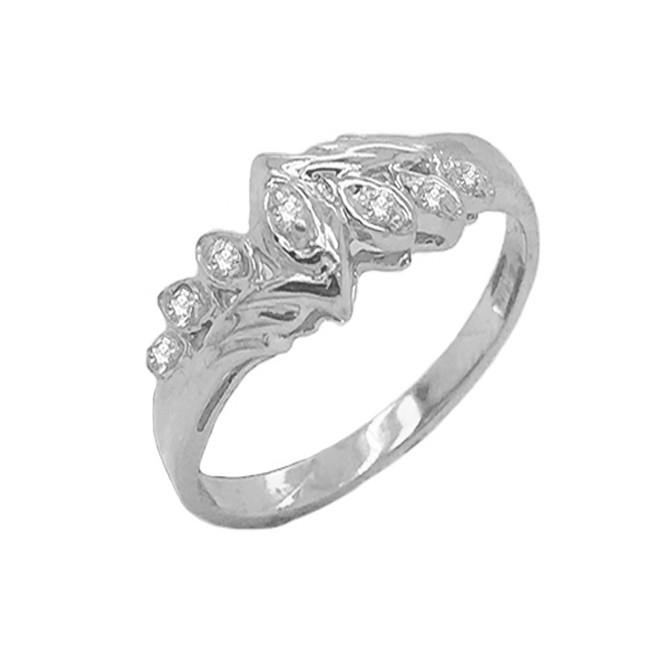 Diamond 7-Stone Accent Promise Ring in Sterling Silver