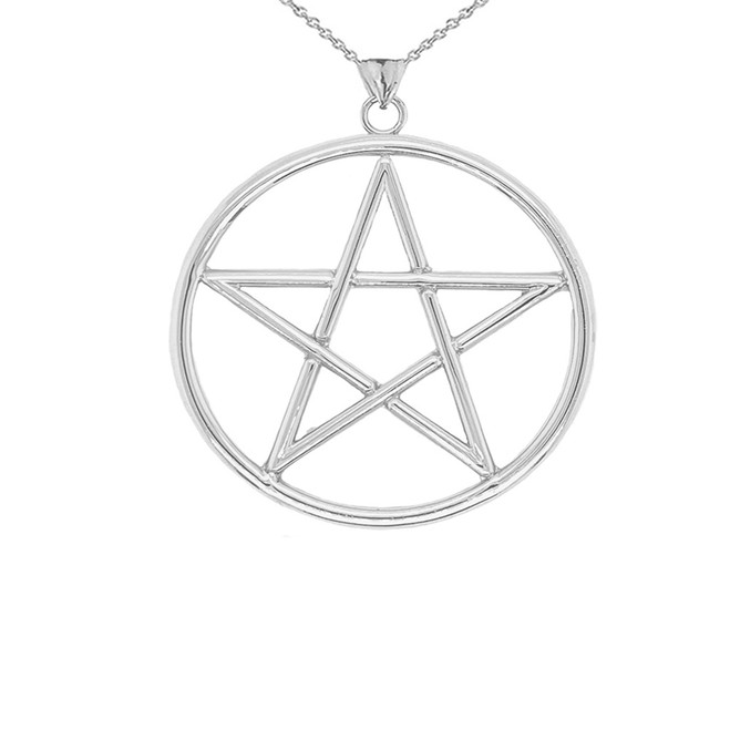 Large Pentagram Pendant in Sterling Silver