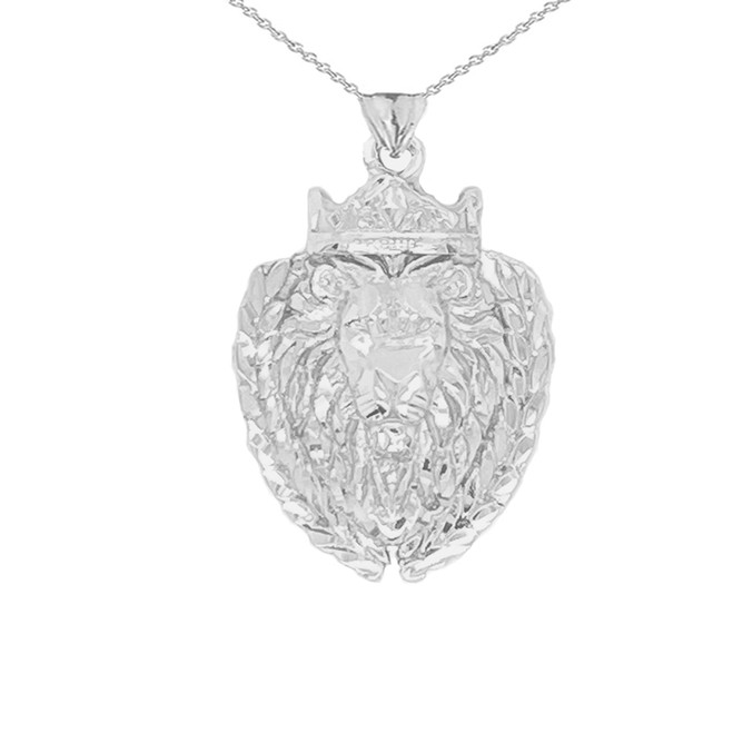 Lion The King Designer Pendant Necklace in Sterling Silver