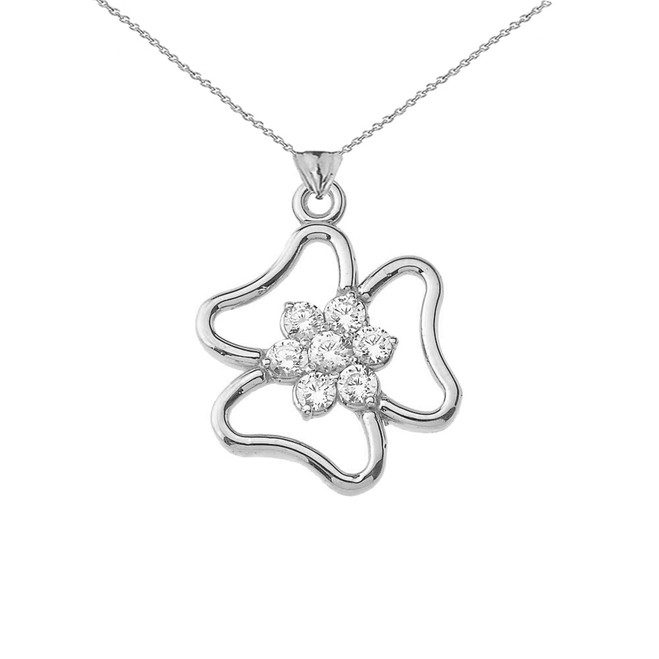 Three Leaf Clover Pendant in Sterling Silver