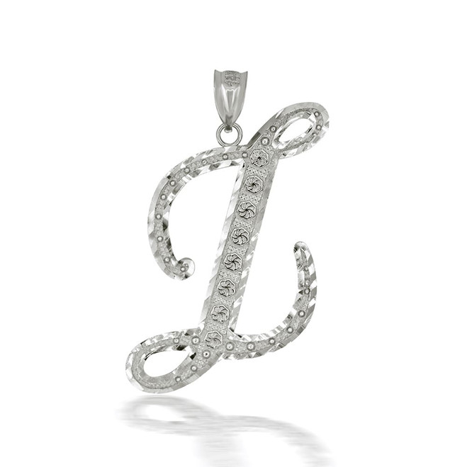 "Sterling Silver Cursive Initial Letter ""Z"" Pendant/Necklace"