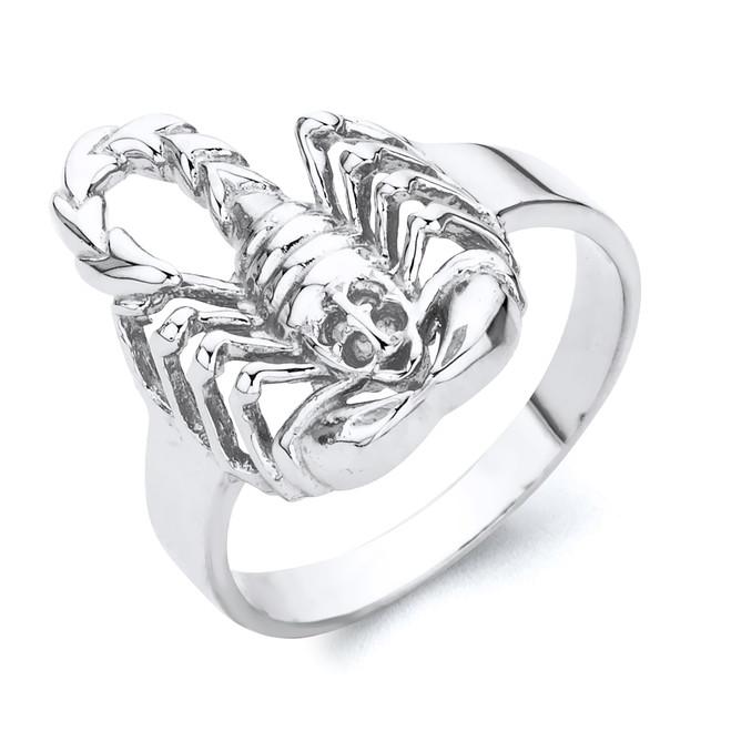 White Gold Exquisite Scorpion Ring