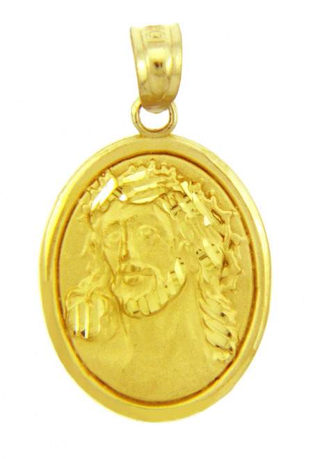 Gold Religious Pendants -  Sacred Heart Of Jesus Yellow Gold Pendant