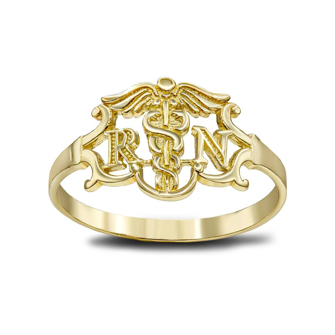 Registered Nurse Ring in Gold (Available in Yellow/White/ Rose Gold)
