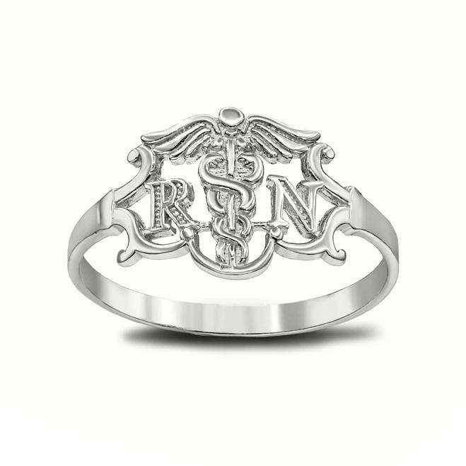Registered Nurse Ring in Sterling Silver