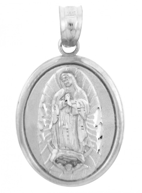 Religious Charms - The Blessed Virgin Mary Sterling Silver Pendant