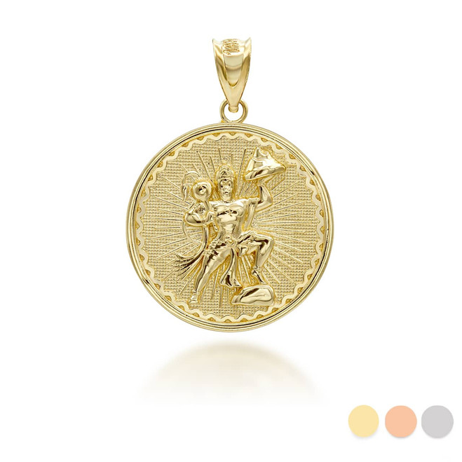 yellow-gold-lord-hanuman-indian-hindu-monkey-god-coin-medallion-pendant-necklace