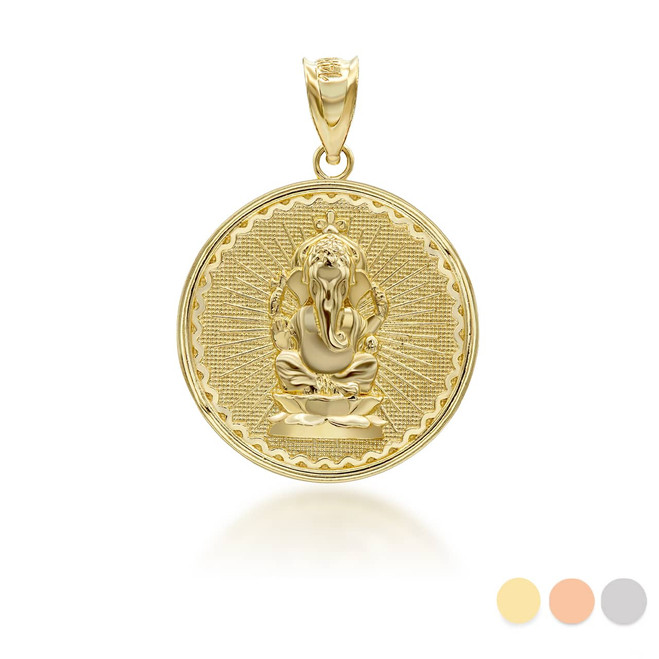 yellow-gold-lord-ganesha-vinayaka-ganapati-hindu-indian-elephant-god-of-fortune-coin-medallion-pendant