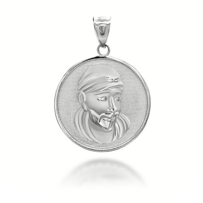 silver-sathya-sai-baba-indian-hindu-guru-coin-medallion-pendant-necklace