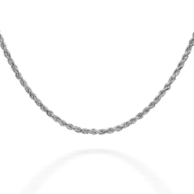 Rope Sterling Silver Chain 1.25 mm