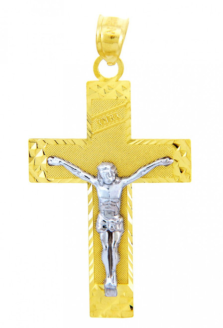 Two Tone Gold Crucifix Pendant - The INRI Crucifix