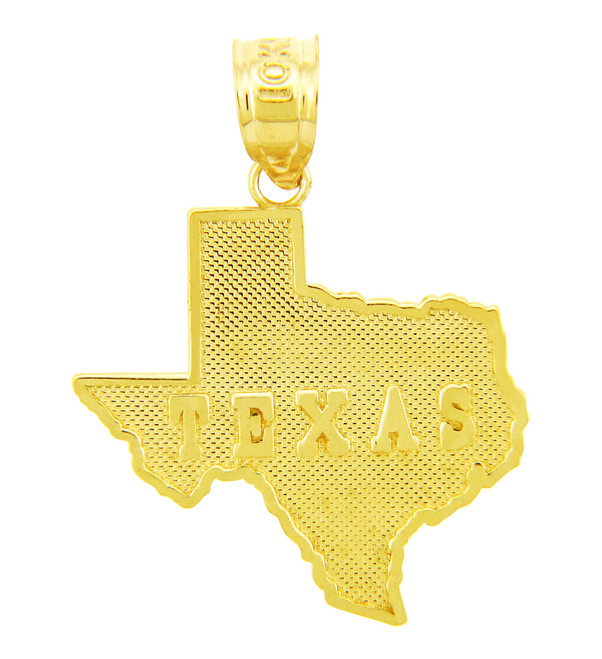 Gold State Of Texas Pendant