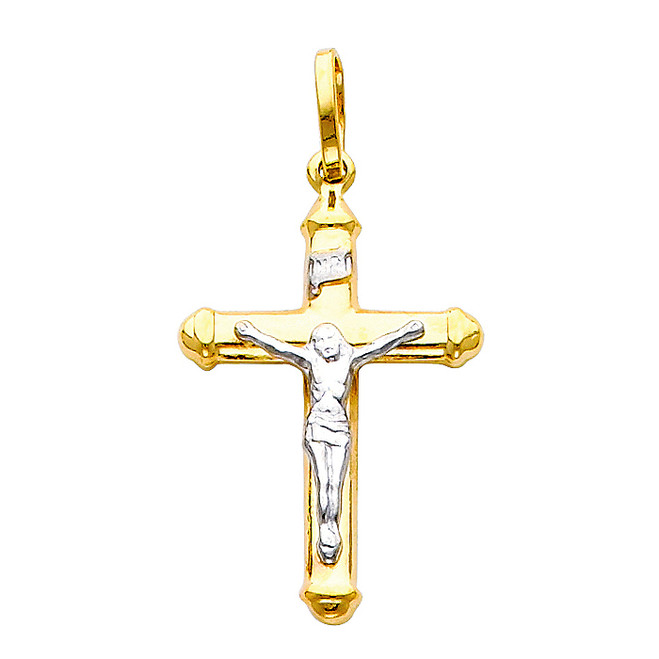 14K Two-Tone Classic Petite Crucifix