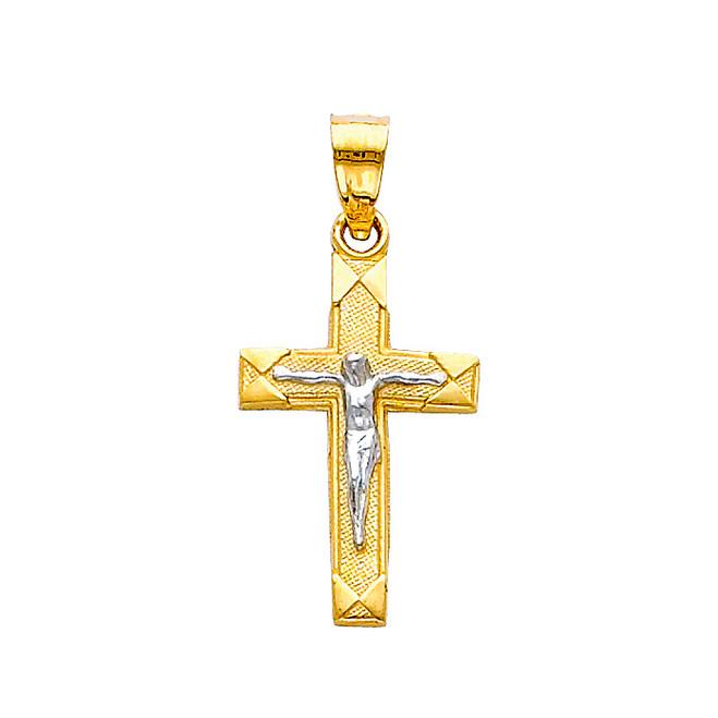 14K  Two-Tone Holy Trinity Crucifix