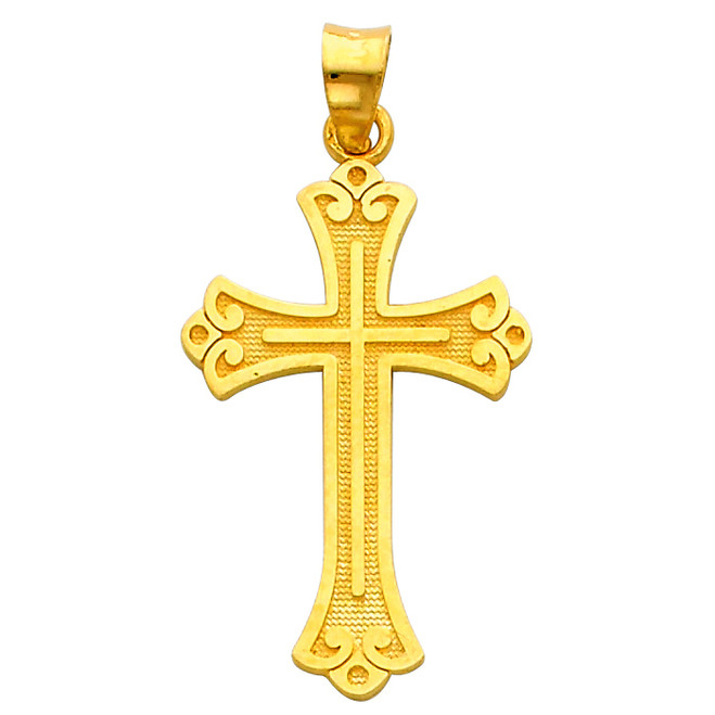 14K Gold Prized Cross pendant