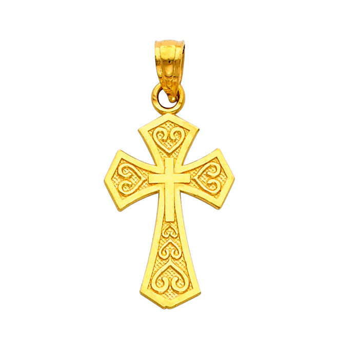 14K Gold - The Chaste Cross pendant