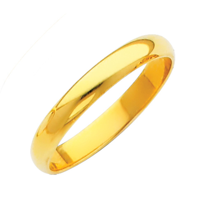 Gold Classic Wedding Band - 3MM
