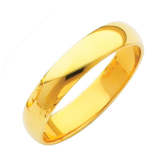 Gold Classic Wedding Band 4MM