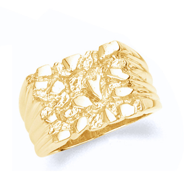 Mens Gold Nugget ring