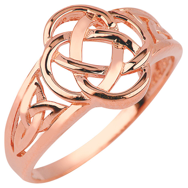 Rose Gold Trinity Knot Ring
