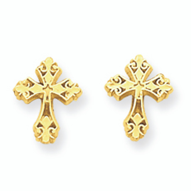 Polished Cross Post Earrings