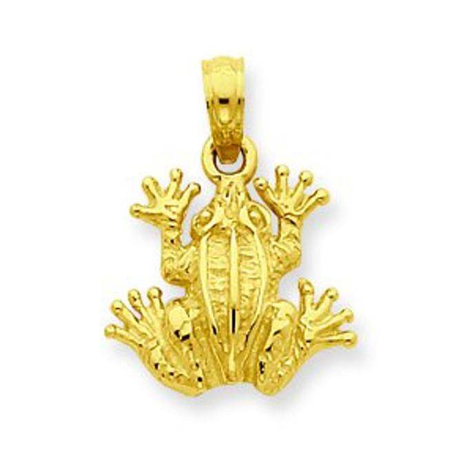 14K Gold Frog Pendant