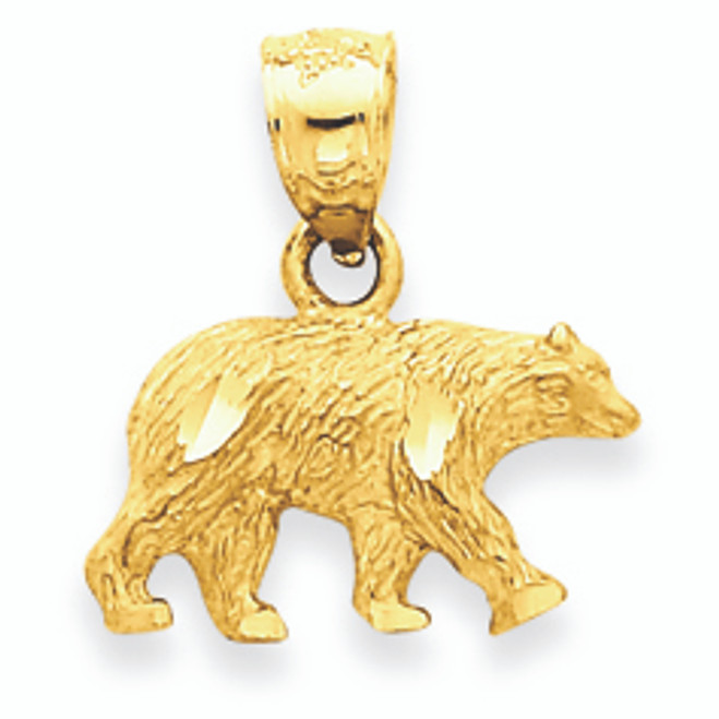 Gold Bear Pendant