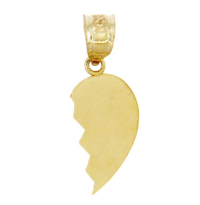 Gold Broken Heart Right Half Pendant