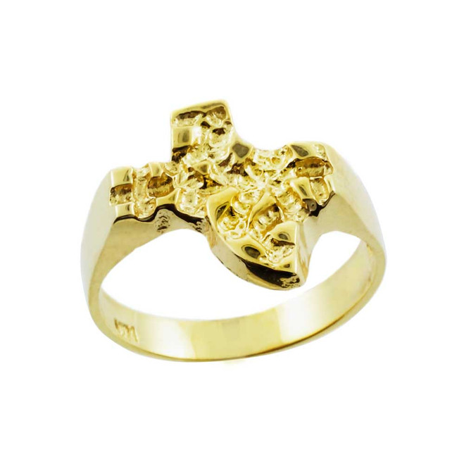 Yellow Gold Large Texas Nugget Ring