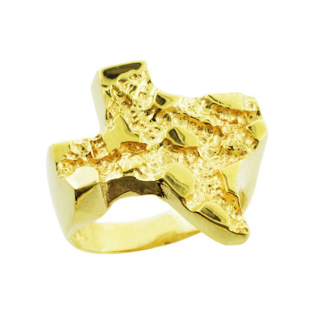 Yellow Gold Medium Texas Nugget Ring