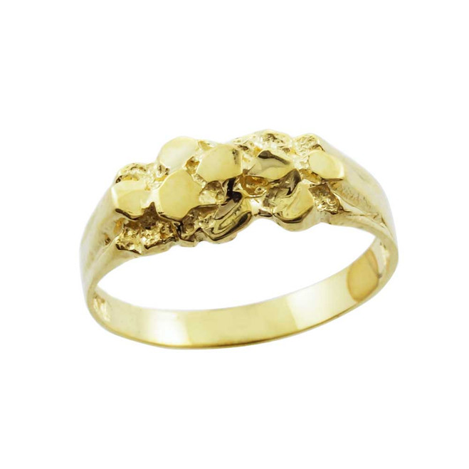 Yellow Gold Nugget Baby Ring