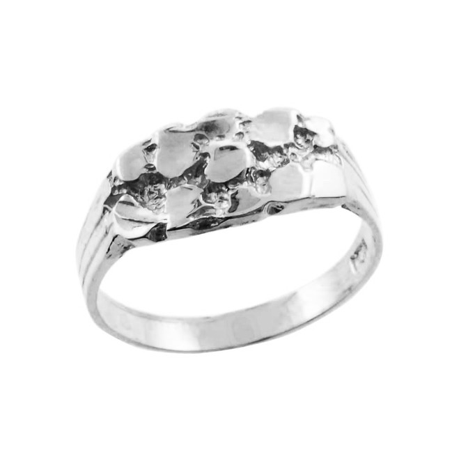White  Gold Boy`s Nugget Ring