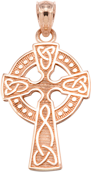Rose Gold Celtic Cross Pendant