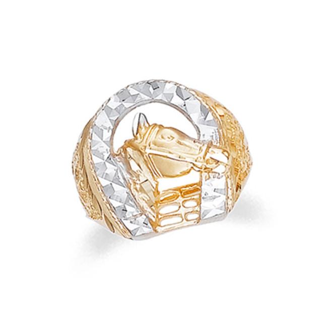 Gold Horseshoe Mens Ring