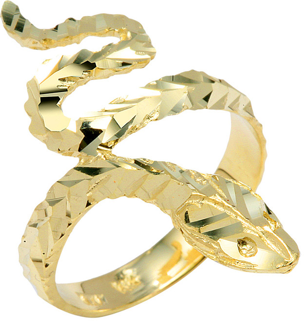 Yellow Gold Serpent Ring