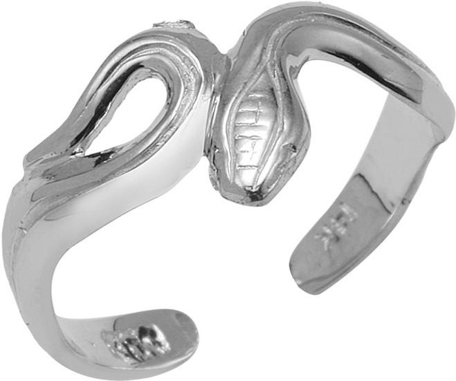 White Gold Snake Toe Ring