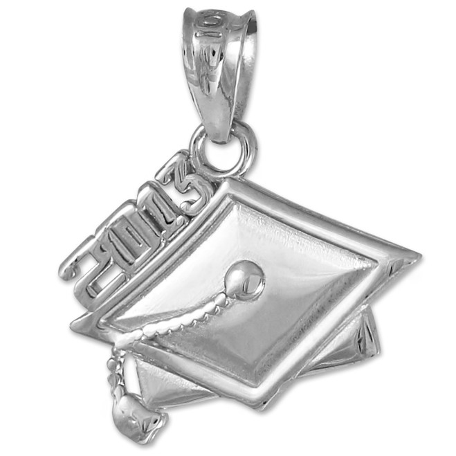 Sterling Silver 2013 Graduation Charm Pendant