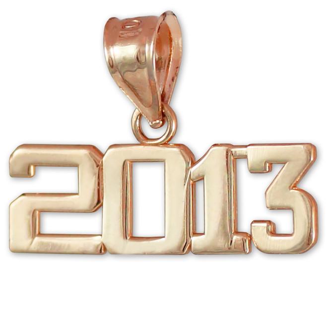 Rose Gold 2013 Class Graduation Charm Pendant