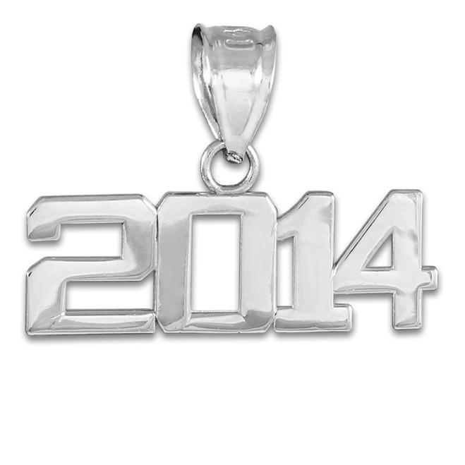Sterling Silver 2014 Class Graduation Charm Pendant