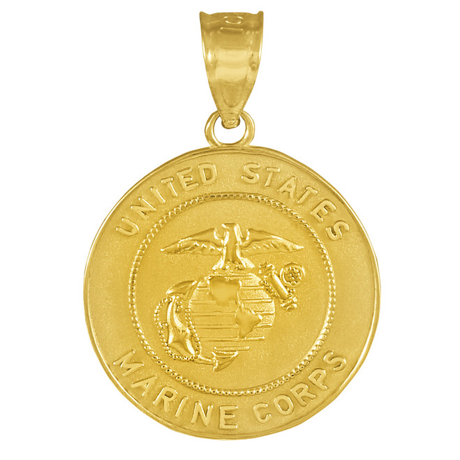 US Marine Corps Gold Coin Pendant